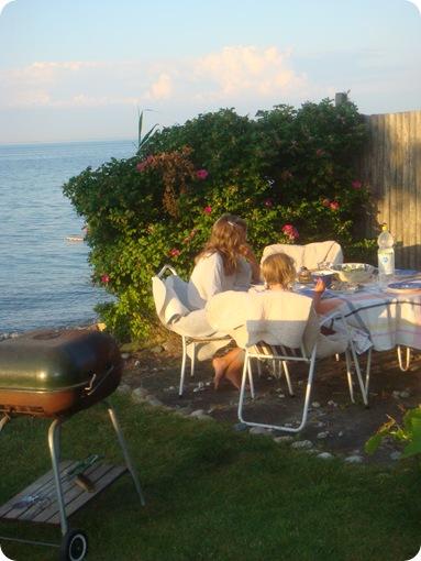 Aftensmad i Lysemose juli 2009